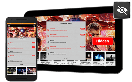 Android Folder Hide/Show Cnx Player