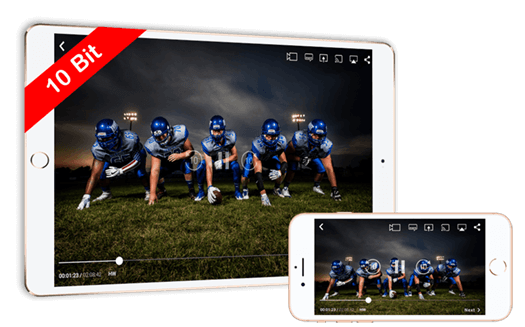 10-bit HEVC | VP9 | H.264 Playback | iOS (iPhone / iPad) | CnX Player