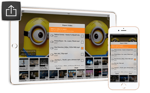Import/Export videos from/to other apps(iOS Airdrop) | iOS (iPhone / iPad) | CnX Player