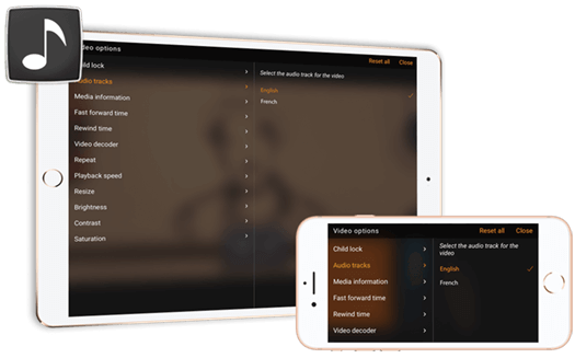 Switch Audio Track | iOS (iPhone / iPad) | CnX Player