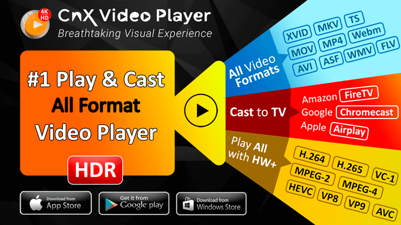 #1 Video Player | 4K Full HD 10 bit Media Player | iPhone/iPad